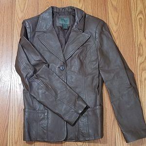 JohnPaulRichard Leather Blazer